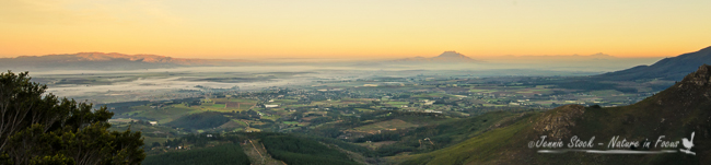 Looking south towards Paarl and Wellington from the top of Du Toitskloof