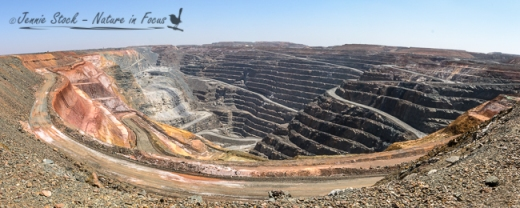 The Superpit at Kalgoorlie - a huge open cast gold mine.