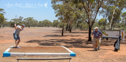 Kambalda golf course - not too much grass on the fairway.
