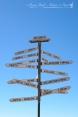 Distance sign at the WA/SA border