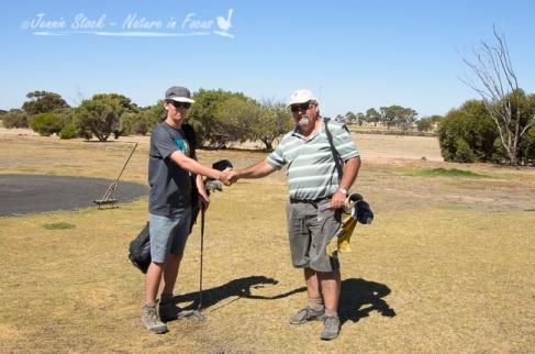 Handshake at the final hole in Ceduna