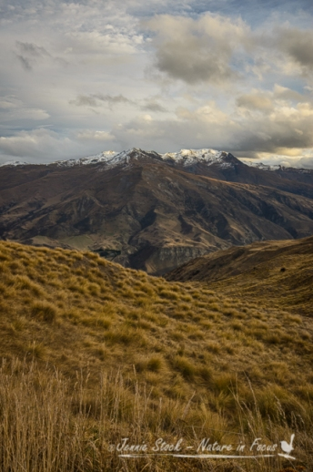 The view from Crown Range Road near Arrowtown and Queenstown on South Island, New Zealand