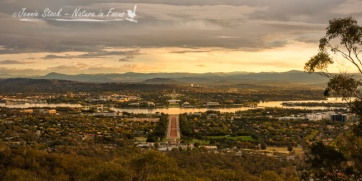 Sunset over Lake Burley Griffin, Canberra