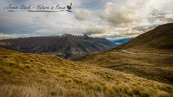 View from Crown Range Road looking towards Queenstown