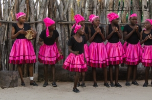 The colourful dance troupe